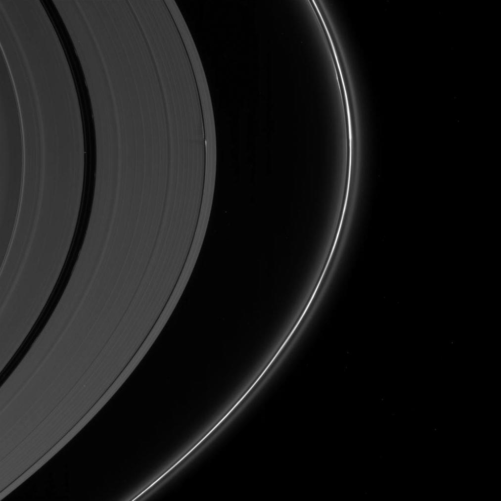 Saturn's springtime sun shows ridges in the rings