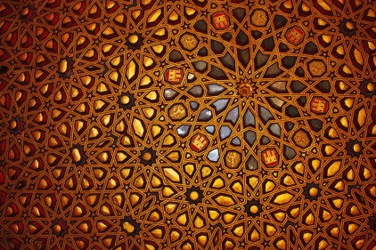 Ornate ceiling, Spain.