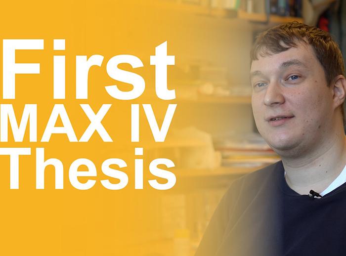 Video presentation of thesis at NanoMAX
