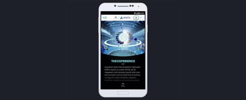 ANSTO's new virtual reality experience