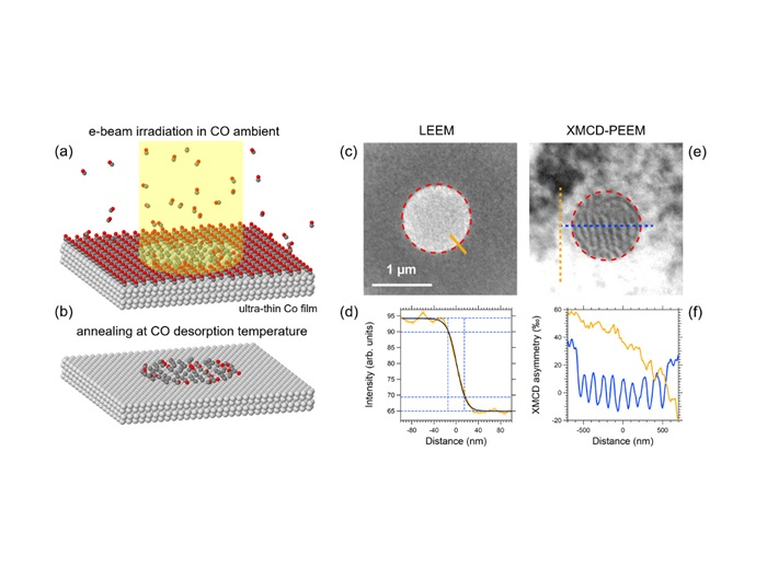 Magnetic patterning by electron beam assisted carbon lithography