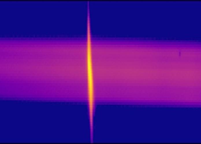 Superfluorescent emission in the UV range