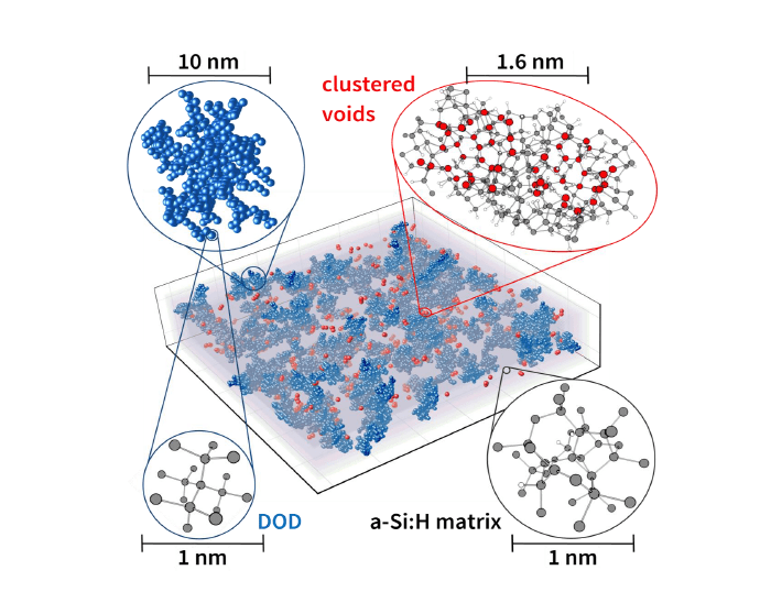 Order in the disorder: density fluctuations in amorphous silicon discovered