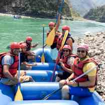 Geared up for rafting