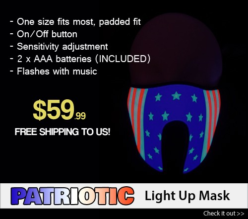 american flag light up mask promo