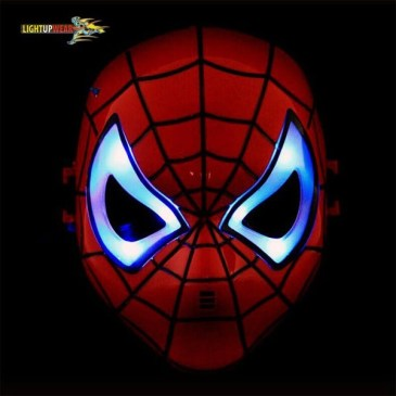 light up spiderman mask