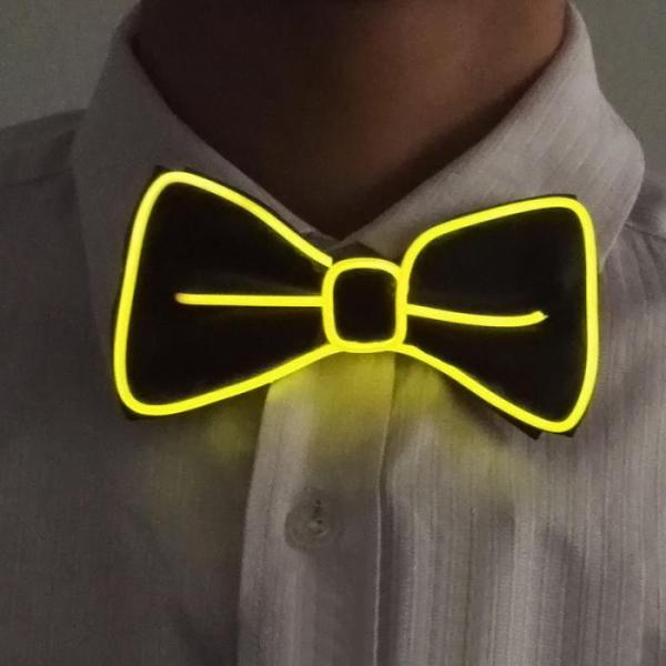 yellow-el-wire-bow-tie
