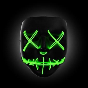 green light up mask