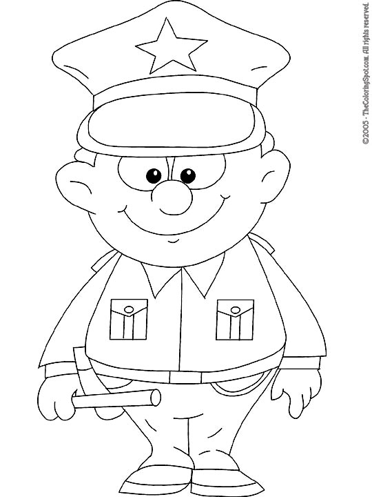 Policeman Coloring Page Audio Stories For Kids Free Coloring Pages Colouring Printables