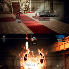 Therion in Battle Octopath Traveler
