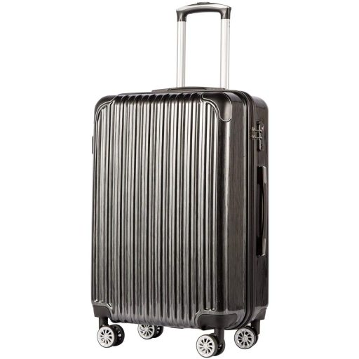 COOLIFE Luggage Expandable Suitcase PC+ABS Spinner