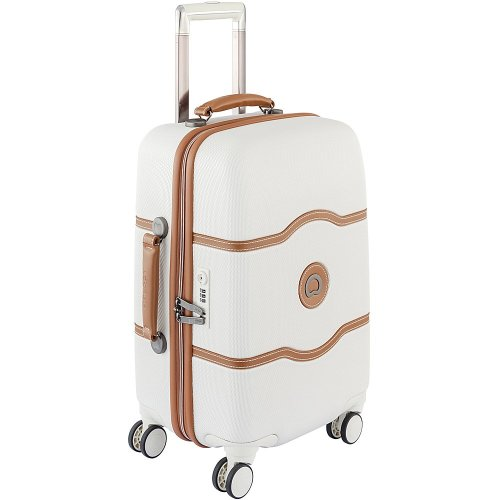 Delsey Luggage Chatelet Hard+ 21 Inch Carry On 4 Wheel Spinner Luggage