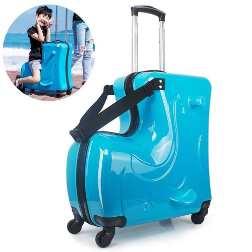 Suitcase for Kids,Children Ride on Luggage Set,Unisex Travel Tots Kids T
