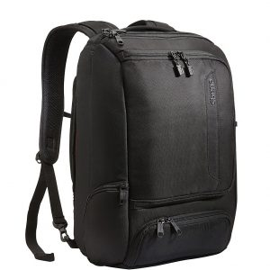"""eBags Professional Slim Laptop Backpack for Travel, School & Business - Fits 17"""" Laptop - Anti-Theft - (Solid Black)"""