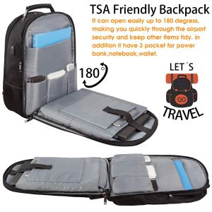 Extra Large Backpack, Travel Laptop Backpack TSA Friendly Durable Computer Backpack with USB Charging Port for Men&Women, Water-Resistant Big Business College School Bookbag Fits 17 Inch Laptop&Notebook