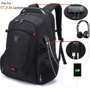 Tzowla 17.3 InTravel Laptop Backpack Anti-Theft Water Resistant Business Backpack