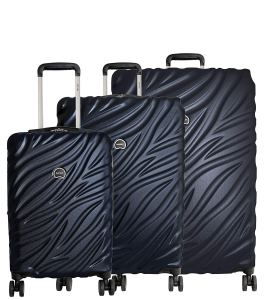 """Delsey Paris Alexis 3-Piece Lightweight Luggage Set Hardside Spinner Suitcase with TSA Lock (21""""/25""""/29"""") (Navy)"""