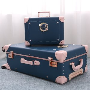 """Student Luggage Set Cute Fashion Carry On Suitcase for Travel PU Leather Trunk Sets 26"""""""
