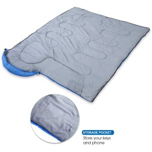 DreamGenius Sleeping Bag Envelope Lightweight Comfort with Compression Sack for 4 Season Camping-best zip together sleeping bags or couples