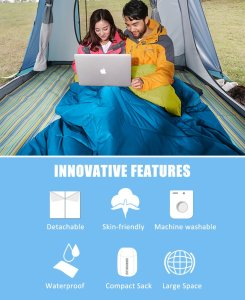 How To Choose the Best Double Sleeping Bag - best zip together sleeping bags for couples