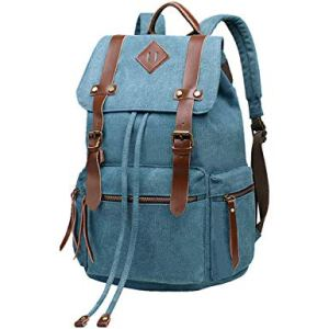 BeautyWill School Backpack Vintage Canvas Rucksack Unisex for Travel Hiking
