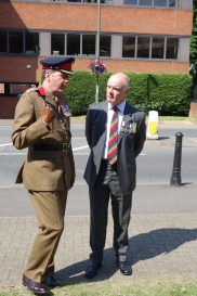Cllr Colin Dougan talks to Lt Col Charles Page