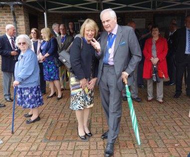 4-Mayor's Consort Mrs Jackie Piper & past mayor Keith Bush