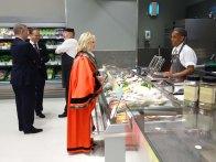 3-Surrey Heath Mayor, Rob Collins and Partner at the Fish counter_2
