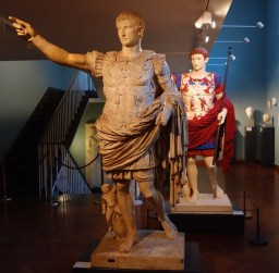 1-Casts of a statue of the Emperor Augustus about 15BC