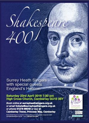 Surrey Heath Singers Shakespeare Concert_front