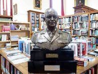 9-Bust of Gen Eisenhower in the Library
