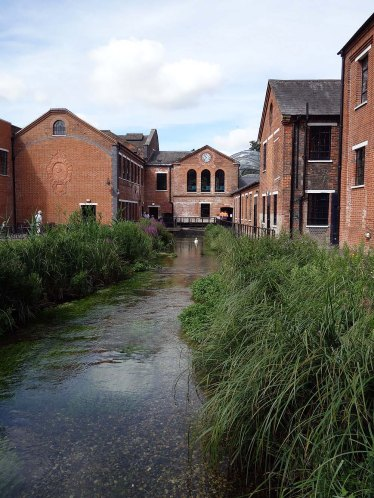1-Crossing the River Test to enter Laverstoke Mill