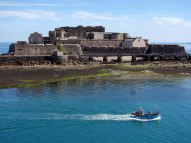1b-Castle Cornet view from harbour Wall