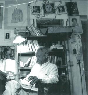 Doc Powell in study, Houston TX, 1990