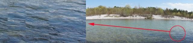Wellenbrecher - die fließende Bewegung des Wassers wird jäh zerstückelt