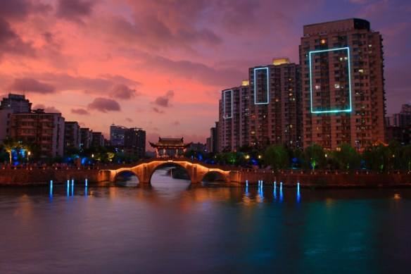 Mise en lumière du Grand canal d'Hangzhou, Chine © Concepto & Zhongtai Lighting