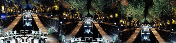 Canal Saint-Martin – AIK – Nuit Blanche, Paris, France - Photo : Vincent Laganier