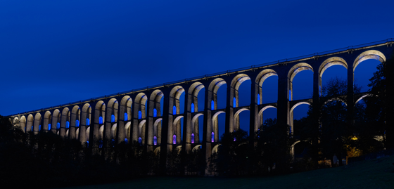Viaduc de Chaumont, France - Conception lumière : Jean Francois Touchard - Photo : Didier Boy de la Tour