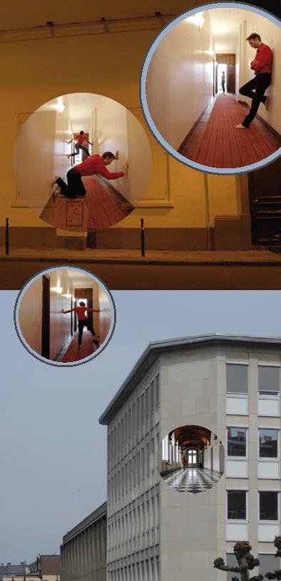 Implantation en façade, A travers les murs, quartier Saint-Jacques, Bruxelles, Belgique © Radiance 35, Zimmerfrei