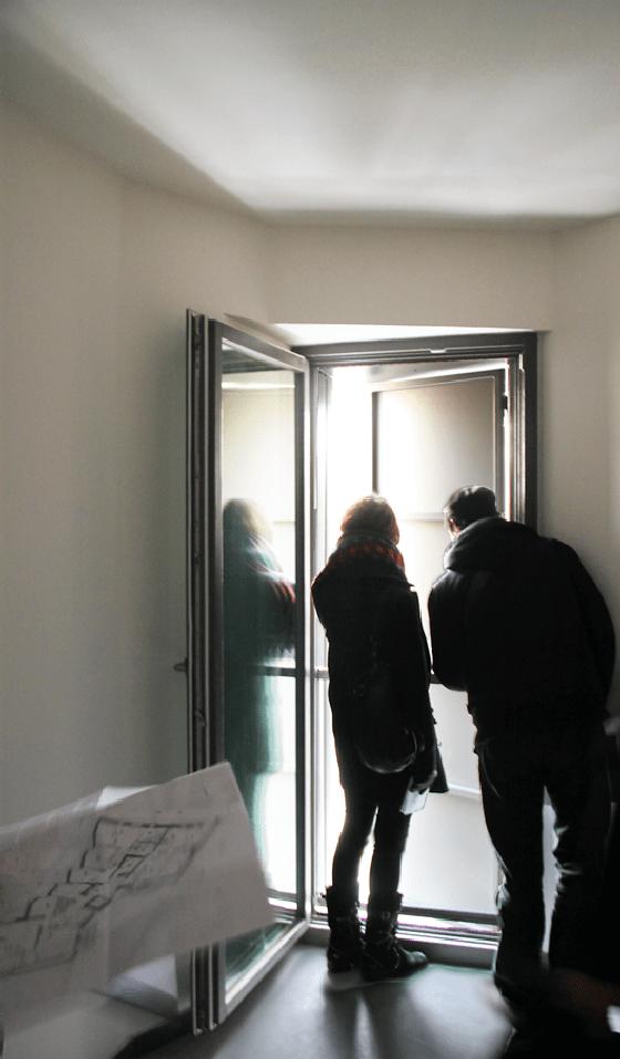 Façade Nord, intérieur d'une chambre, logements sociaux, Paris, France - Fresh architectures - Photo : Vincent Laganier