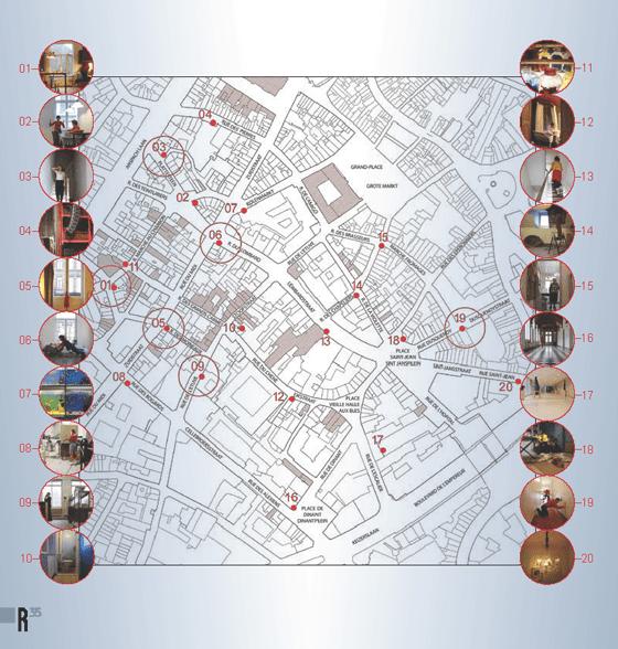Plan d'implantation, A travers les murs, quartier Saint-Jacques, Bruxelles, Belgique © Radiance 35, Zimmerfrei