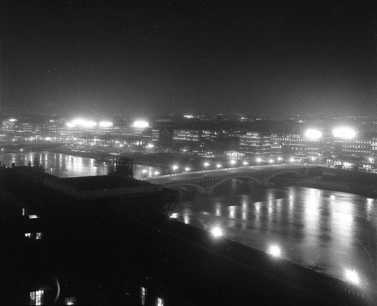 Le pont Wilson, Lyon, 1959 - Archives Le Progrès