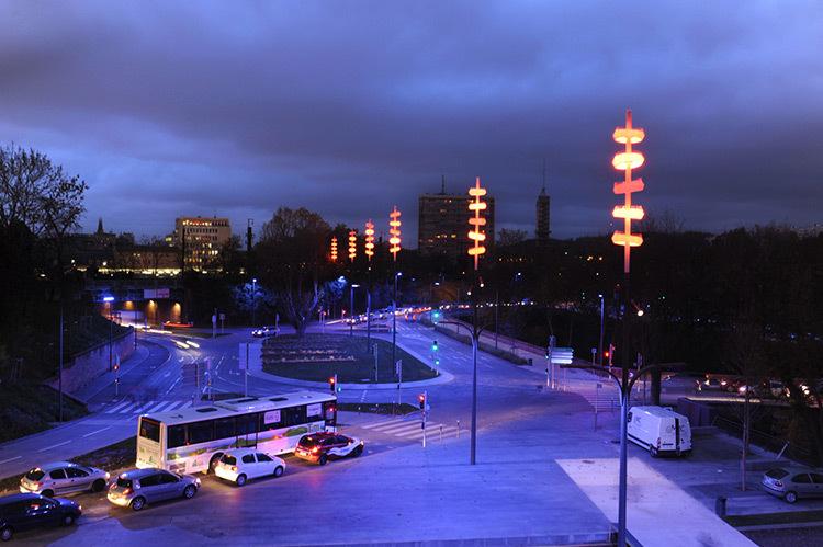 Onde chromatique, boulevard de la Seille, Metz
