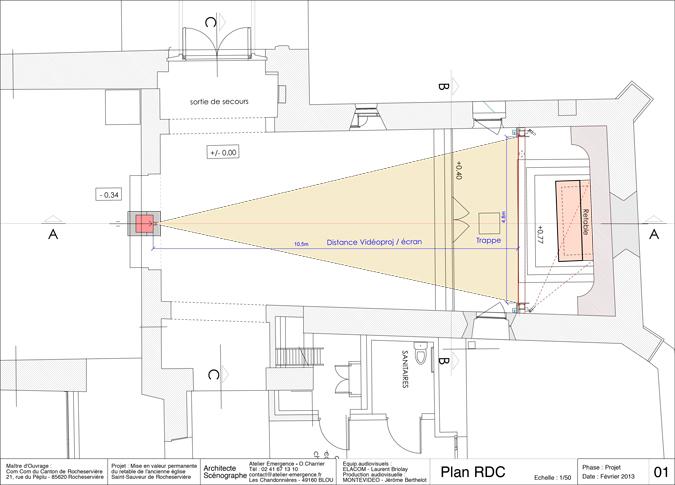 01-Roch-Plan-RDC-Revelations-Retable-eglise Saint-Sauveur, Rocheserviere, France © Atelier Emergence, Montevideo, Elacom