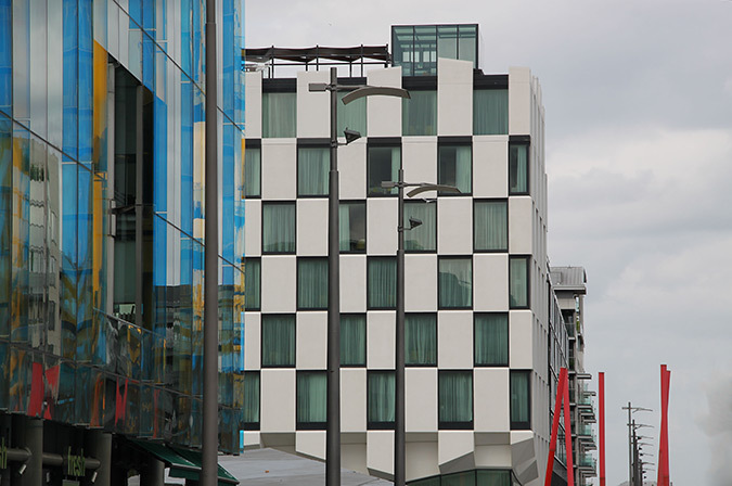 Grand Canal Square, Hotel The Marker, Dublin, Irlande - Architectes : DMOD et MDO - Photo : Vincent Laganier