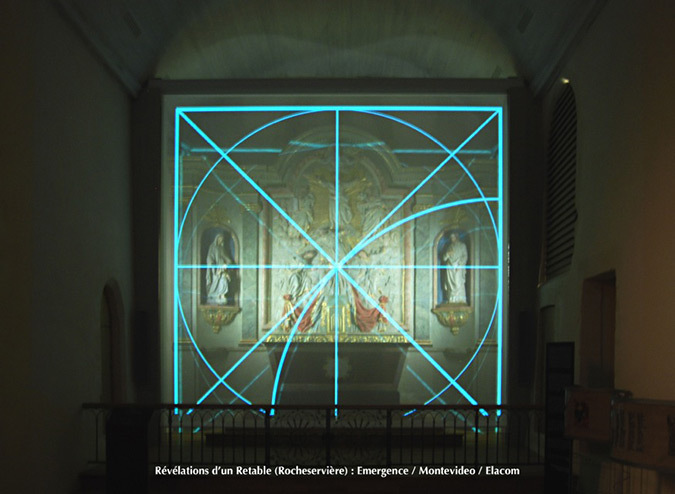 Revelations-Retable-07-eglise Saint-Sauveur, Rocheserviere, France © Atelier Emergence, Montevideo, Elacom