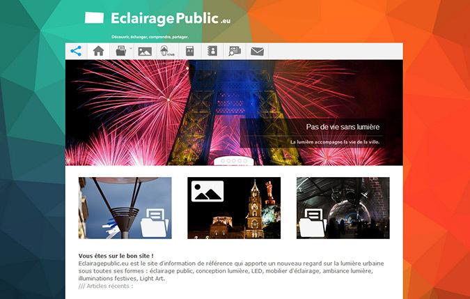 Eclairagepublic.eu - capture d'écran - Septembre 2014 © Aubin Ribeyron