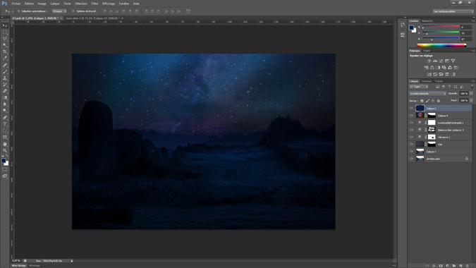 15 - mode de fusion du calque - tutoriel Photoshop, maitriser la nuit – Nicolas Houel