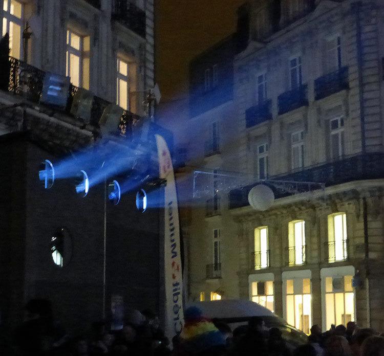16 Son et lumiere - Illumi Nantes - Facade de la Cathedrale - Peinture Yann Thomas - Images Spectaculaires © Vincent Laganier