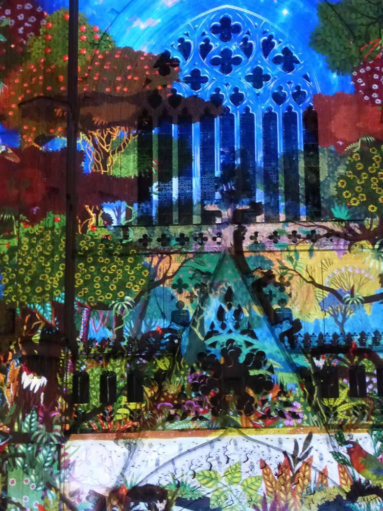 3 Son et lumiere - Illumi Nantes - Facade de la Cathedrale - Peinture Yann Thomas - Images Spectaculaires © Vincent Laganier